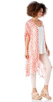 Sole Society Lightweight Printed Kimono with Tassels