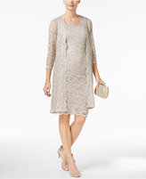 R & M Richards Sequined Lace Popover Dress & Jacket
