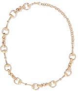 Gucci 18-karat Gold Horsebit Necklace