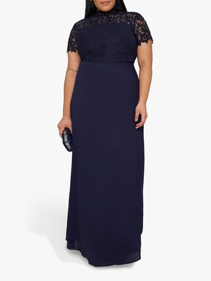 Chi Chi London Curve Charissa Dress, Navy