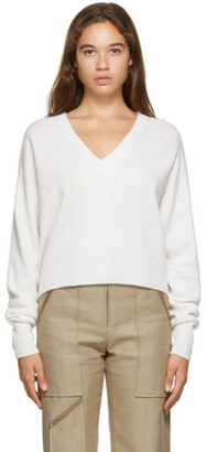 Chloé Off-White Cashmere V-Neck Sweater