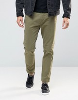 Replay Tapered Chinos Washed Khaki