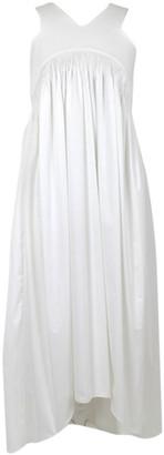 Teija White Cotton Dresses