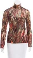 Vivienne Tam Velvet Abstract Print Top
