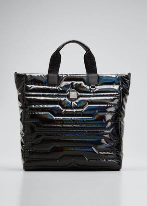 MCM Men's Klassik Quilted Nylon Medium Tote Bag