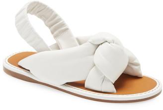 Miu Miu Knot Slingback Flat Sandal