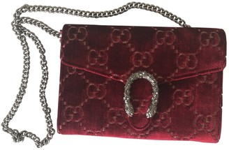 Gucci Dionysus Burgundy Velvet Handbags