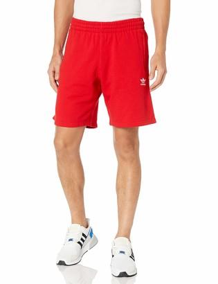 adidas mens Trefoil Essentials Shorts Scarlet XX-Large