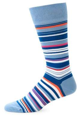 Calvin Klein Barcode Stripe Crew Socks