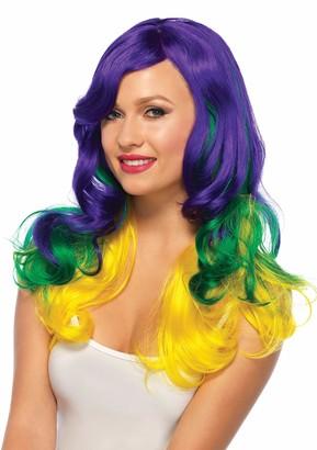 Leg Avenue Women's Carnival/Mardi Gras Tri-Color Wavy Wig