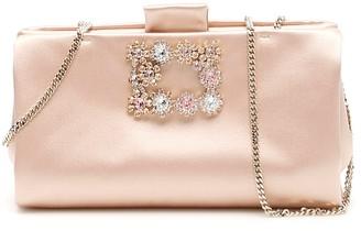 Roger Vivier Flower Buckle Clutch Bag