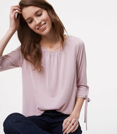 LOFT Sandwashed Tie Cuff Top
