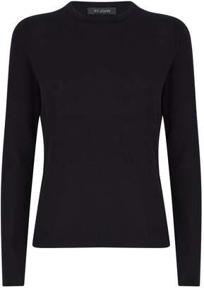 St. John Cashmere-Silk Sweater