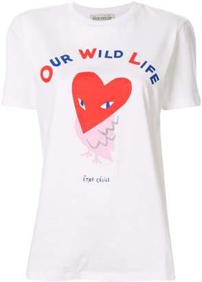 Être Cécile owl print T-shirt