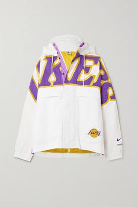 Nike + Ambush Nrg Oversized Hooded Printed Padded Shell Jacket - White