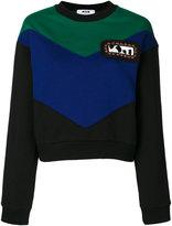 MSGM colour-block sweatshirt