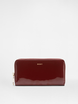 DKNY Patent Zip Around Wallet
