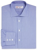 Turnbull & Asser Check with Dot Classic Fit Dress Shirt