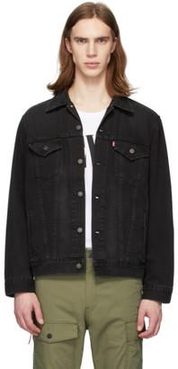 Levi's Levis Black Denim Vintage Fit Trucker Jacket