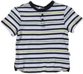 Splendid Printed Striped Slub Henley (Toddler/Kid)-White-7