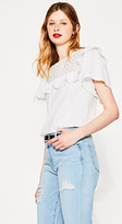 Esprit T-shirt with broderie anglaise