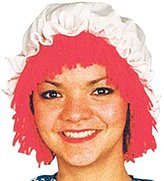 Morris Costumes RAGGEDY ANN WIG WITH HAT