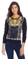 Southpole Juniors Sublimation Crew Neck Sweat Shirt In Medusa Theme