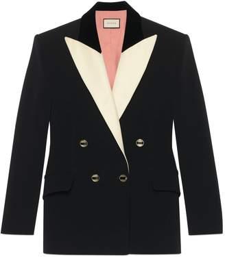 Gucci Silk wool tuxedo jacket