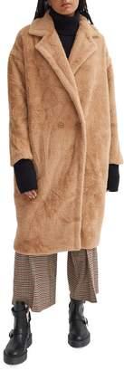 Noize Estelle Oversized Faux Fur Teddy Coat