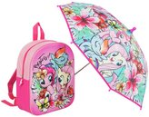 My Little Pony Pink Backpack and Umbrella Set
