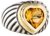 David Yurman Bi-Color Citrine Cable Cocktail Ring