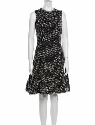 Oscar de la Renta 2009 Knee-Length Dress Wool