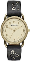 Arizona Womens Black Strap Watch-Fmdarz150