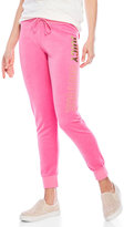 Juicy Couture Logo Velour Jogger Pants
