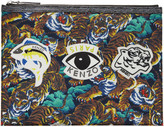 Kenzo Multicolor Signature Prints Zip Pouch