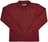Nupkeet Long-Sleeve Polo T-Shirt-BURGUNDY