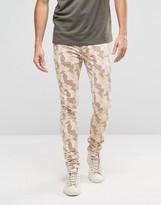 Asos Super Skinny Jeans In Desert Camo
