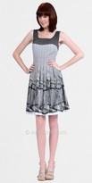 Kay Unger Sleeveless Ruffled Day Dresses