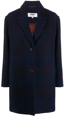 YMC Single-Breasted Check Coat