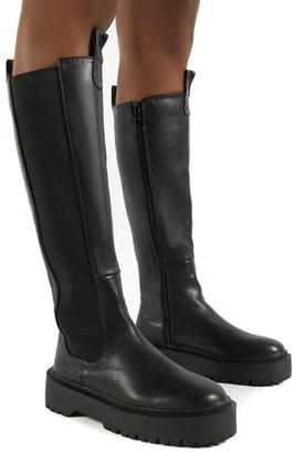 Public Desire Uk Andi Knee high Chunky Sole Boots