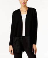 Alfani Petite Eyelash-Hem Open-Front Cardigan, Only at Macy's