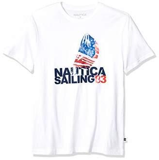 Nautica Men's Short Sleeve Crew Neck 100% Cotton Graphic Sail T-Shirt