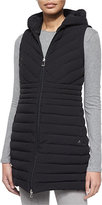 Peuterey Cartier Miter Ribbed Long Vest, New Black