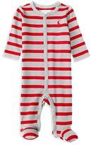 Ralph Lauren Infant Boys' Striped Jersey Footie - Sizes Newborn-9 Months