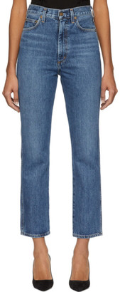 A Gold E Agolde AGOLDE Blue Pinch Waist Hi Rise Kick Jeans