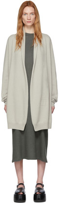 Frenckenberger Grey Cashmere Straight Cardigan
