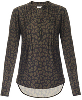 Veronica Beard Harmony Pintuck Henley Shirt