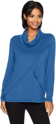 Tribal Women's L/s French Terry Cowl Neck Top