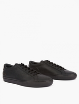 Common Projects Black Leather Special Edition Achilles Sneakers