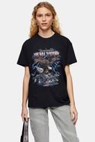 Topshop Womens Tall Downtown Eagle T-Shirt - Black